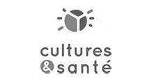 Logo - Cultures et Santé - Grayscale
