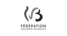 Logo - Fédération Wallonie-Bruxelles - Grayscale