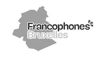 Logo - Francophones Bruxelles - Commission communautaire française - Grayscale