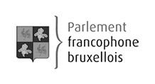 Logo - Parlement francophone bruxellois - Grayscale